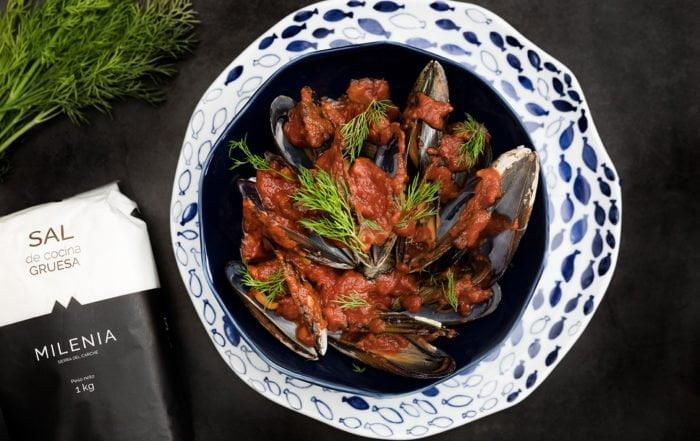 mejillones con salsa marinera